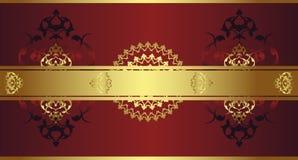 Diseño antiguo del oro del otomano Foto de archivo