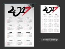 Diseño anual del calendario de 2017 Fotografía de archivo