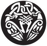 Diseño anudado de los pájaros de vikingo Imagen de archivo libre de regalías