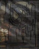 Diseño aplicado con brocha del acoplamiento del metal Foto de archivo libre de regalías