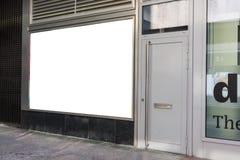 Diseño apretado plantilla en blanco Wh de la alameda del área del espacio de la copia del escaparate imagenes de archivo