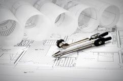 Diseño arquitectónico imágenes de archivo libres de regalías
