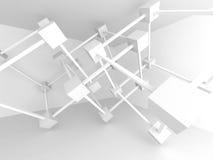 Diseño arquitectónico abstracto Detalle moderno de la configuración blanco libre illustration