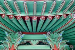 Diseño arquitectónico coreano tradicional Foto de archivo libre de regalías