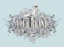 Diseño artístico de la camiseta stock de ilustración