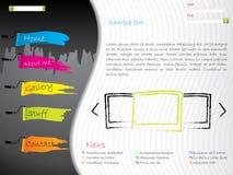 Diseño artístico del modelo del Web site Imágenes de archivo libres de regalías