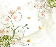 Diseño artístico floral del vector ilustración del vector