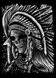 Diseño Art Illustration del cráneo de Apache libre illustration