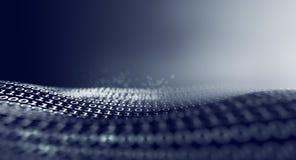 Diseño ascendente del cierre del código binario representación 3d libre illustration