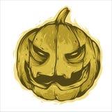 Diseño asustadizo del vector de la cara de Halloween de la calabaza ilustración del vector