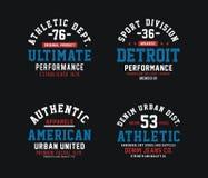Diseño atlético determinado de la tipografía ilustración del vector