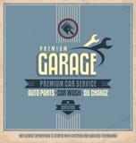 Diseño auto del cartel del vintage del servicio Fotografía de archivo libre de regalías