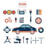 Diseño automotriz No2 del vector del mecánico del icono Imagen de archivo