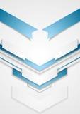 Diseño azul abstracto de la tecnología de las flechas Imagenes de archivo