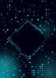 Dise?o azul brillante del Rhombus de semitono que brilla intensamente para el club, partido, invitaci?n de la demostraci?n Fondo  libre illustration