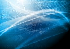 Diseño azul de la tecnología stock de ilustración