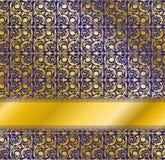 Diseño azul de lujo Modelo inconsútil del papel pintado Fotos de archivo