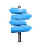 Diseño azul del ejemplo de las señales de tráfico Imagen de archivo