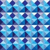Diseño azul del modelo de los cuadrados del extracto Imagen de archivo