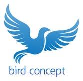 Diseño azul del pájaro o de la paloma stock de ilustración