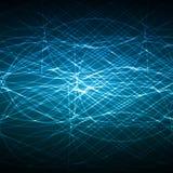Diseño azul del vector de la red Fotografía de archivo