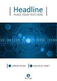 Diseño azul HUD de la cubierta Vector Fotos de archivo libres de regalías