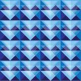 Diseño azul inconsútil del modelo del triángulo Imagen de archivo