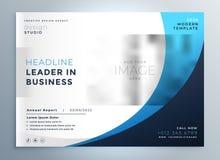 Diseño azul profesional de la plantilla del folleto del negocio ilustración del vector