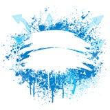 Diseño azul y blanco del grunge ilustración del vector