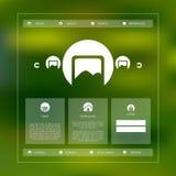 Diseño básico simple de la plantilla del sitio web con los iconos Imagen de archivo libre de regalías