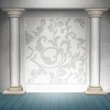 Diseño barroco de la pared Imagen de archivo libre de regalías