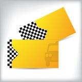 Diseño bilateral de la tarjeta de visita del taxi Imagen de archivo