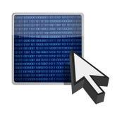 Diseño binario de la ilustración del cursor del botón Fotos de archivo