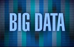 Diseño binario del ejemplo de los datos grandes Foto de archivo libre de regalías