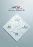 Diseño blanco de Infographics del rompecabezas Foto de archivo libre de regalías