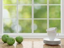 Diseño blanco de la cocina Imagen de archivo
