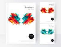 Diseño blanco del folleto de la cubierta de Minimalistic Fotos de archivo libres de regalías