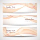 Diseño blanco del vector de la onda anaranjada abstracta del jefe Imagen de archivo libre de regalías