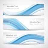 Diseño blanco del vector de la onda azul abstracta del jefe Fotos de archivo