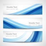 Diseño blanco del vector de la onda azul abstracta del jefe Foto de archivo libre de regalías