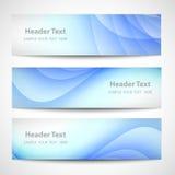 Diseño blanco del vector de la onda azul abstracta del jefe Fotografía de archivo