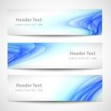 Diseño blanco del vector de la onda azul abstracta del jefe Fotos de archivo libres de regalías