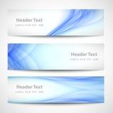Diseño blanco del vector de la onda azul abstracta del jefe Imagen de archivo