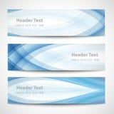 Diseño blanco del vector de la onda azul abstracta del jefe Imagenes de archivo