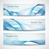 Diseño blanco del vector de la onda azul abstracta del jefe Fotografía de archivo libre de regalías