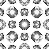 DISEÑO BLANCO NEGRO del MODELO del vector Imagen de archivo libre de regalías