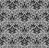 Diseño blanco negro floral decorativo del papel pintado ilustración del vector