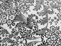 Diseño blanco y negro del mantel Imágenes de archivo libres de regalías