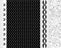 Diseño blanco y negro del vector del cordón Imágenes de archivo libres de regalías