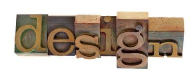 Diseño - bloques de impresión torcidos Foto de archivo libre de regalías